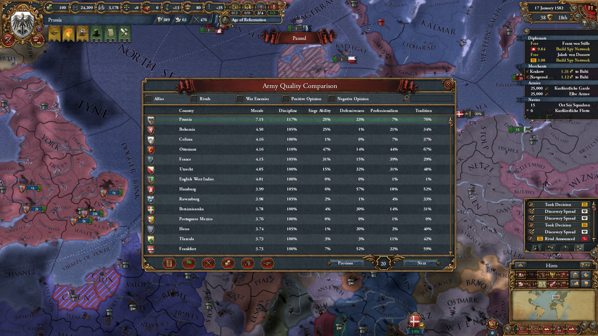 The Beautiful Moment When Prussian Space Marines Come Online Eu4