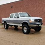 My Obs 1997 Ford Powerstroke 7 3 I Just Did The Lift And Tires A Few Days Ago Looks Pretty Good For Being A 205k Mile Midwest Truck Trucks