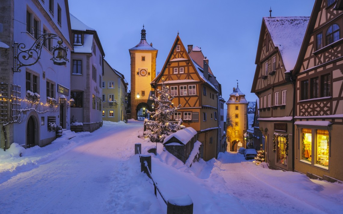 Rothenburg on a winter night
