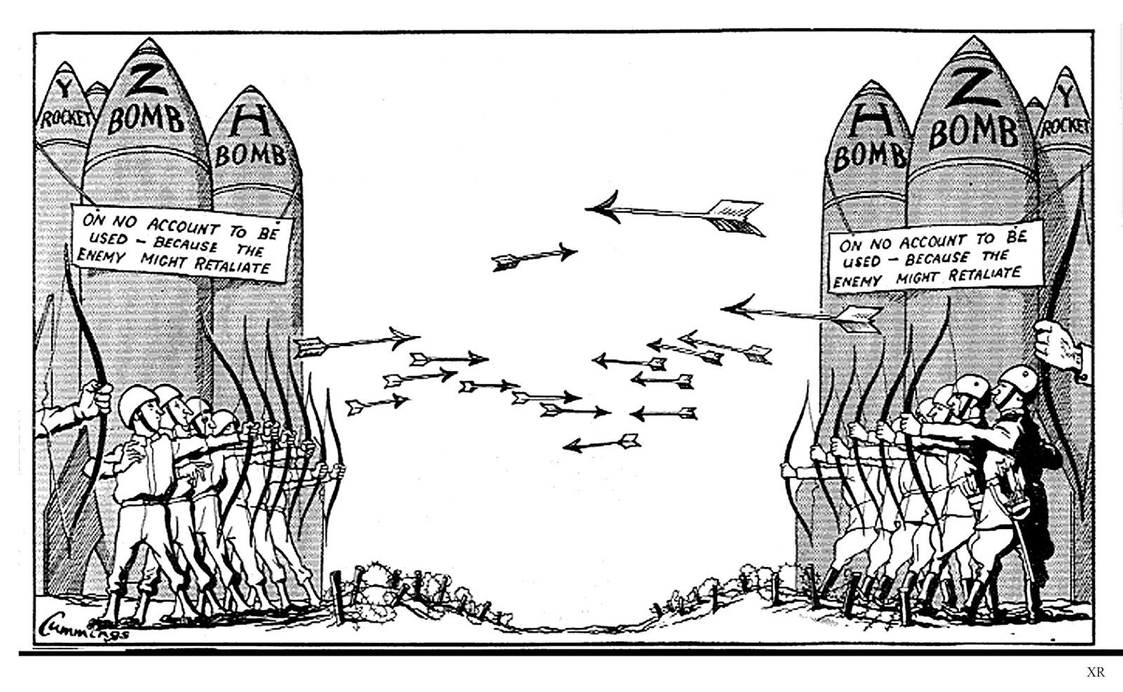 Cartoon Mocking The Cold War Relationship Between Russia