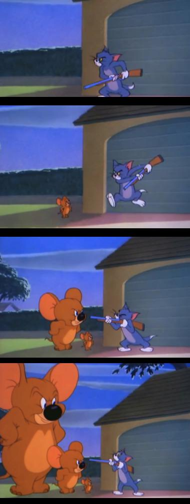 Made By Me A New Tom And Jerry Format Increasingly Big Jerry Vs