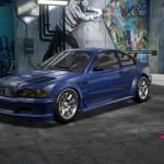 Blue Bmw M3 E46 Gtr From Nfs Mw Ps2 Demo Recreated In Nfs Heat Studio Nfsrides