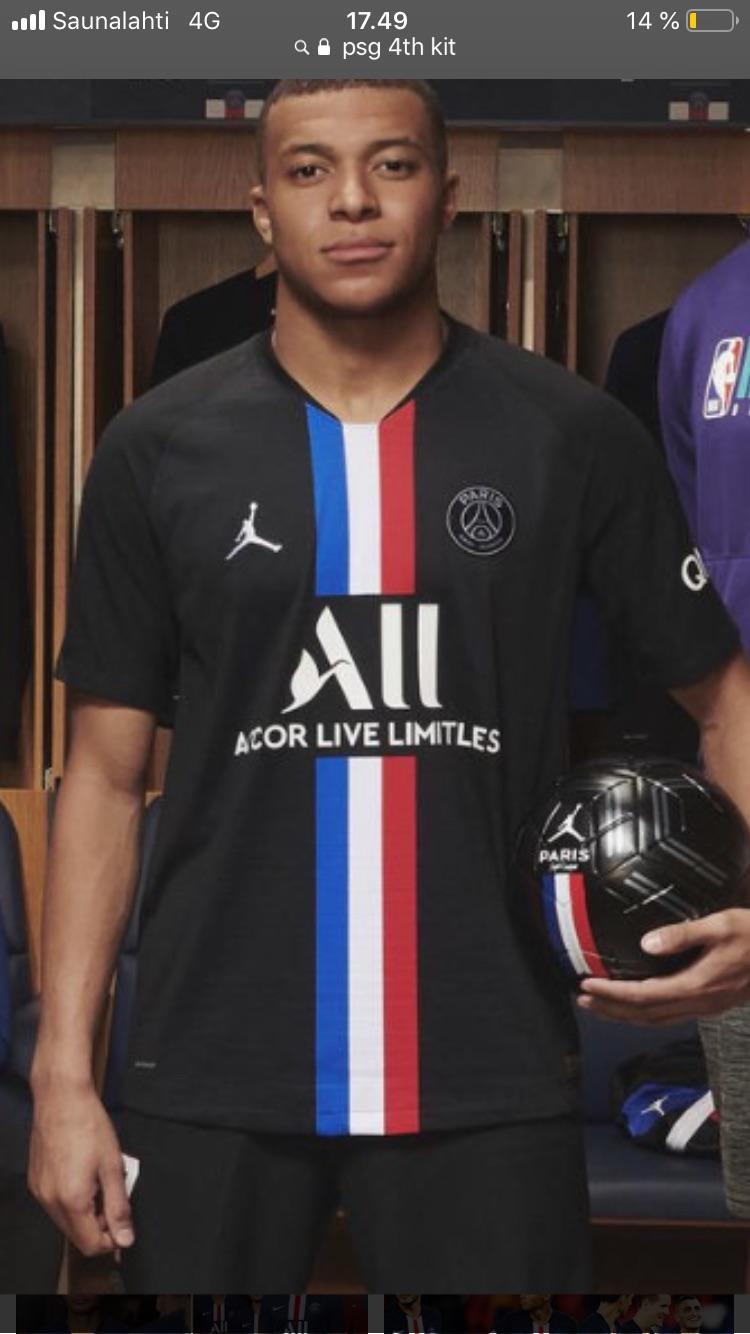 psg 4th black jordan kit
