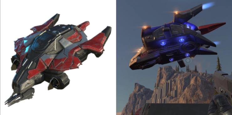 I think 343 deserves some credit for not redesigning the halo wars 2 Banished  phantom in halo Infinite: HaloWars