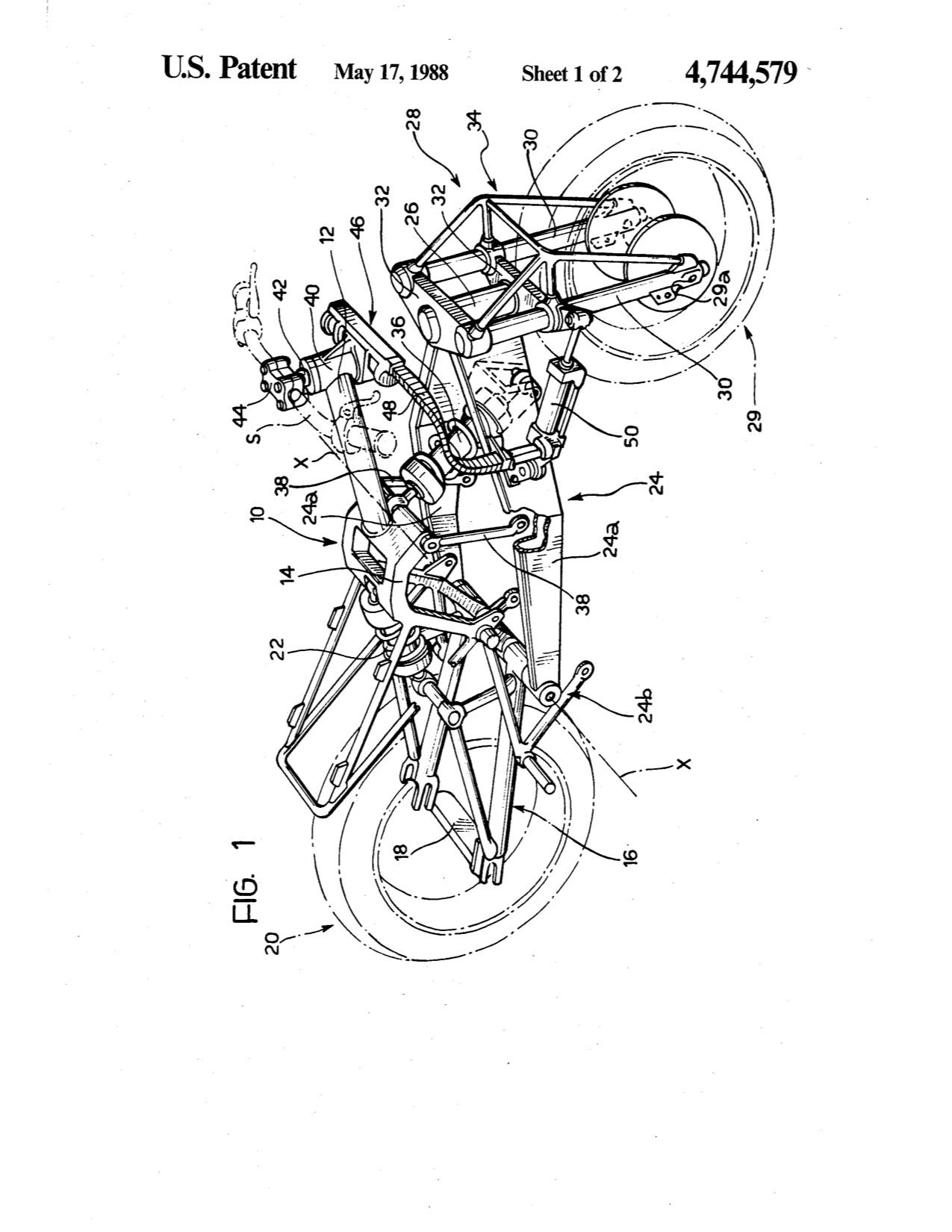 Was This Patented Motorcycle Ever Built Us Patent