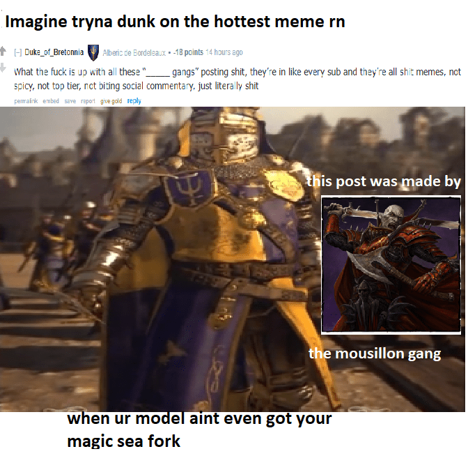 Mousillon Gang Drinks First Blood Totalwar