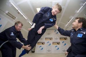 Stephen Hawking in volo parabolico