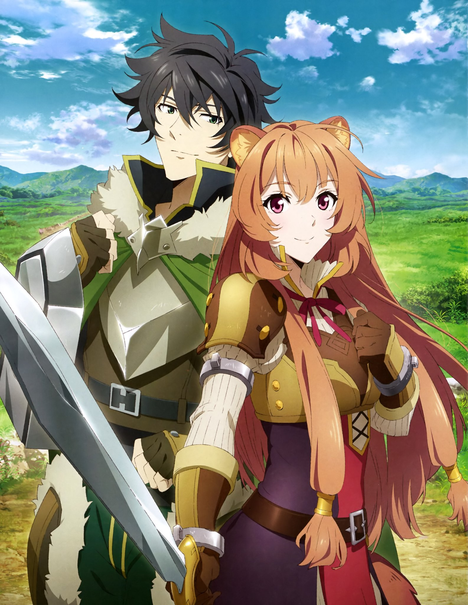 Newest Shield Hero scan featuring Naofumi and Raphtalia : shieldbro