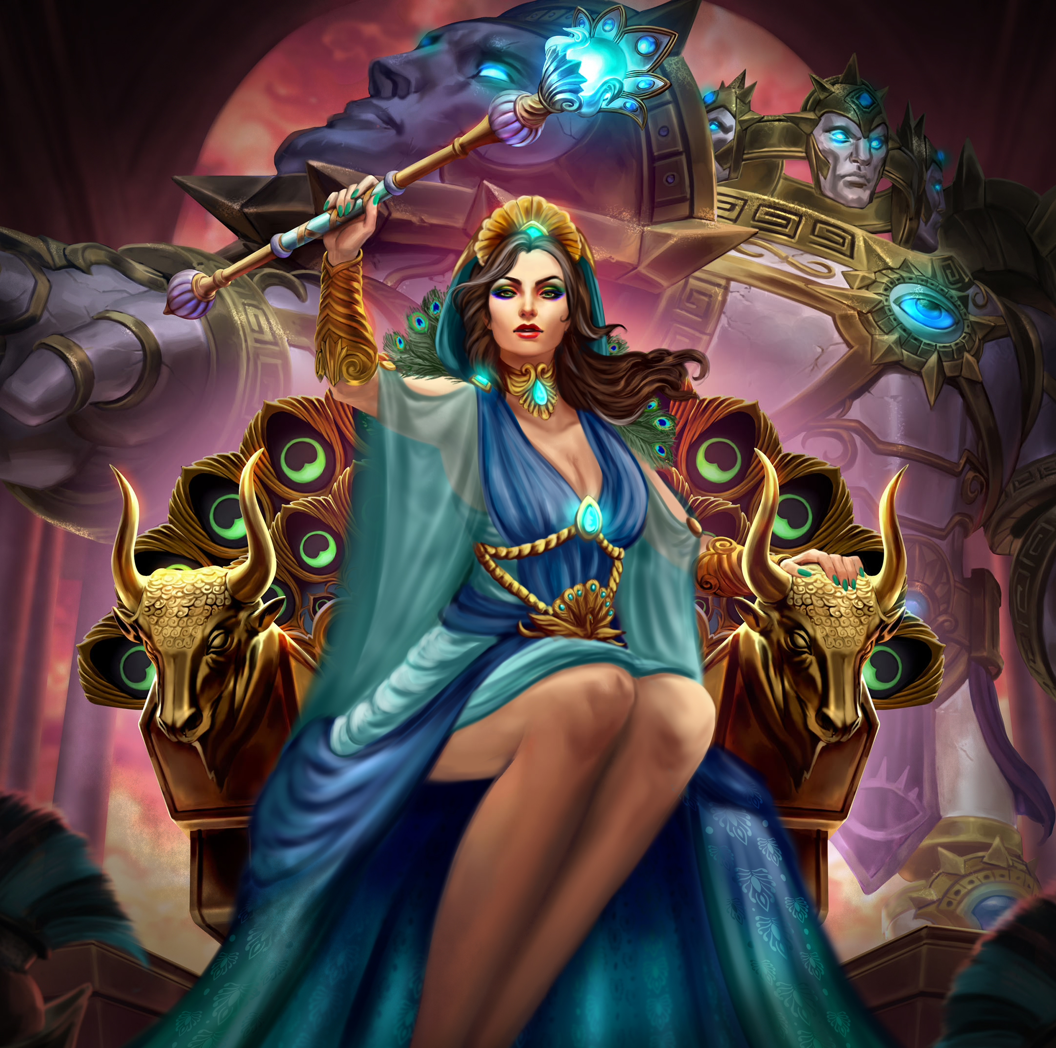 Hera Splash Art With Concept Art Outfit Smite