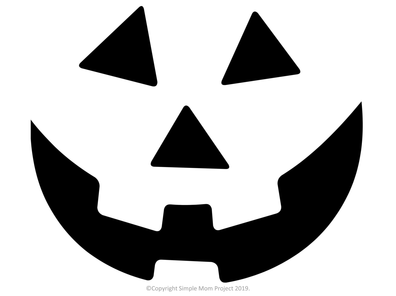 Pumpkin Face Pumpkin Stencil