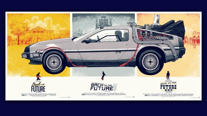 Back to the Future DeLorean Artwork (3840×2160)