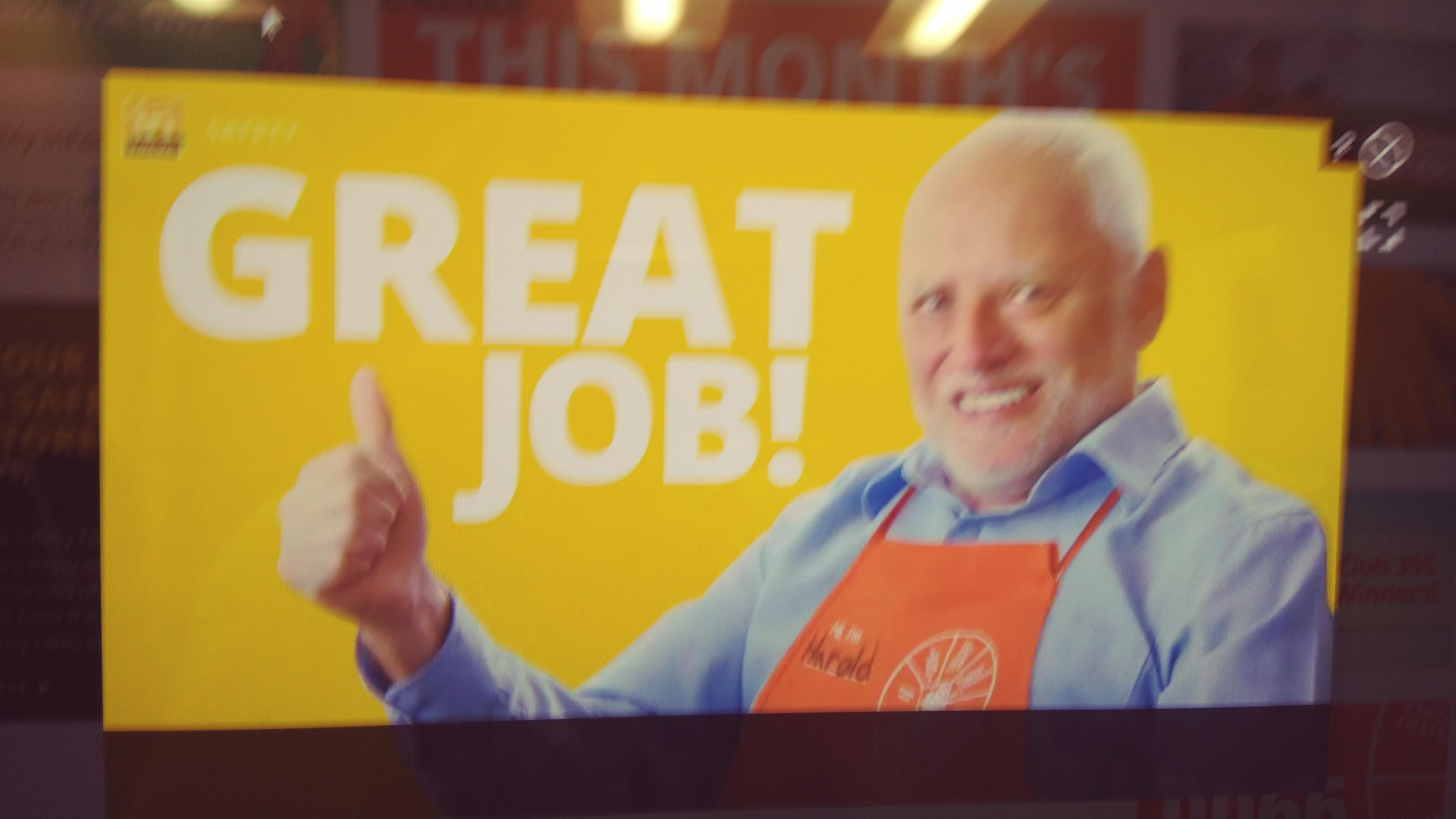 Harold Hides The Pain For All Of Us Homedepot