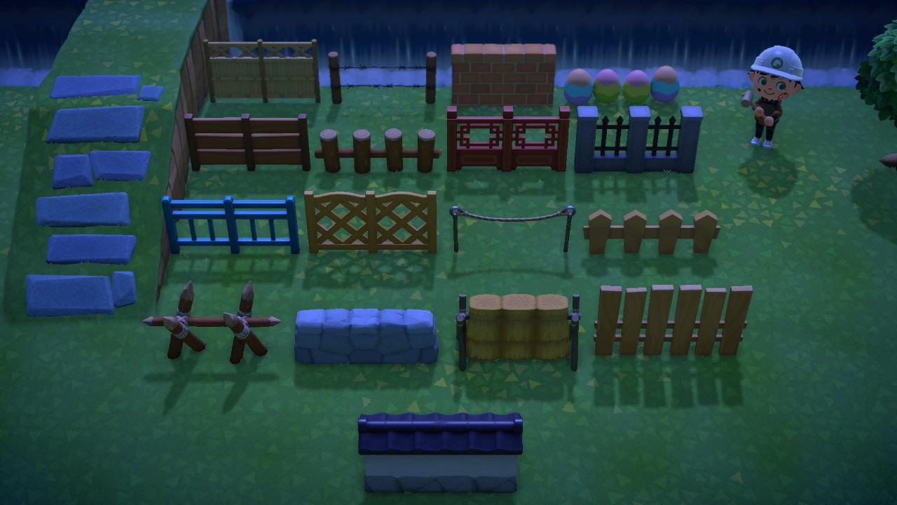 All Fences Comparison Animalcrossing