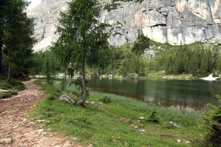 Lake aside a track near Croda da Lago Mountain, in the Dolomiti group, Italy (Photo credit to Stefano Marchiante) [5602 x 3735]