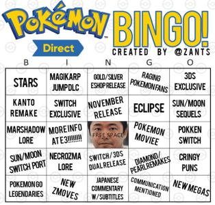 my official pokemon direct bingo card pokemon