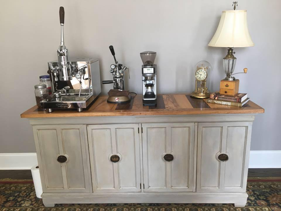 My Custom Refinished Coffee Counter Featuring