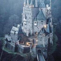 Eltz Castle, one of the few castles on the left bank of the Rhine.