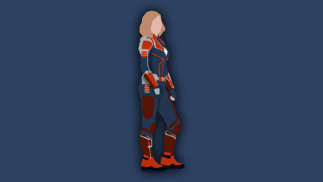 A Captain Marvel Wallpaper I Made In Photoshop