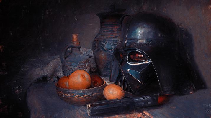 Vader Helmet on Still Life by Oliver Wetter [3840×2160]