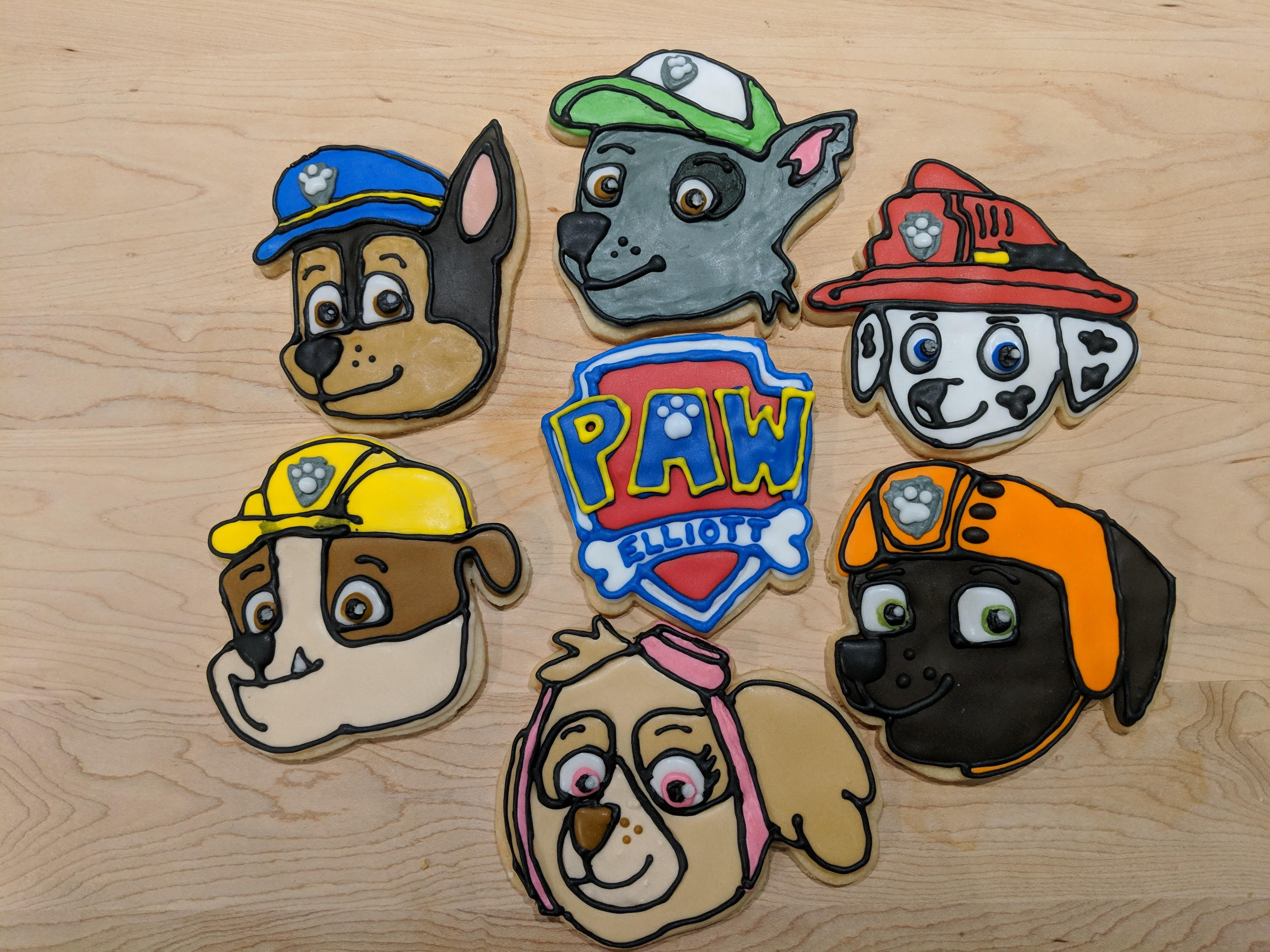 Paw Patrol Cookies For My Son S 2nd Birthday Party Tomorrow Baking