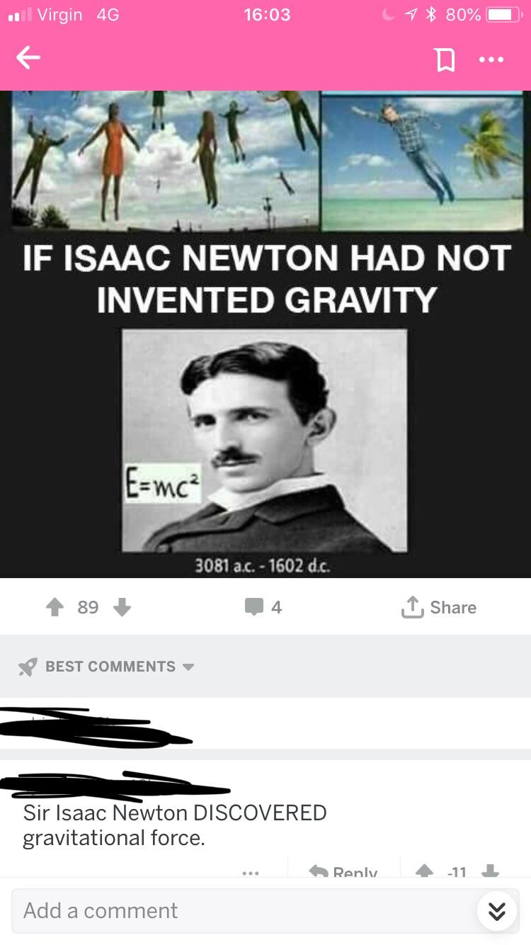 If Only Isaac Newton Hadn T Invented Gravity Woooosh