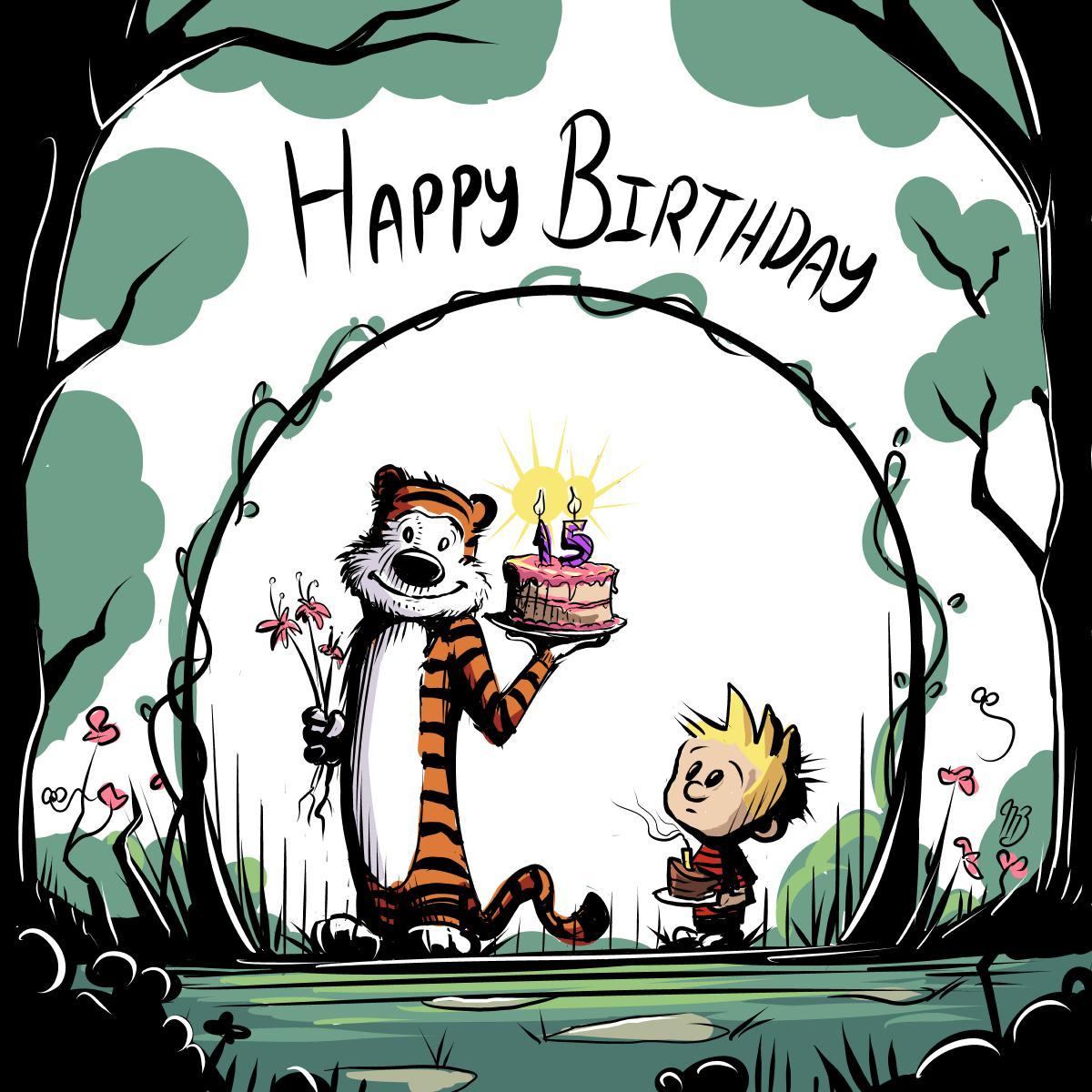 Drew Calvin Hobbes For My Niece S Birthday Calvinandhobbes