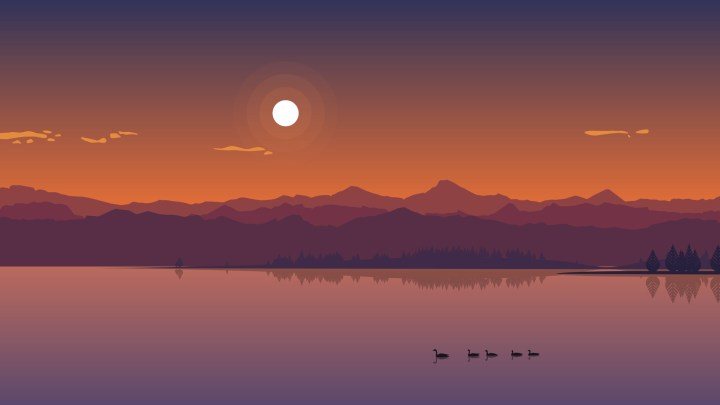 Lake Sunset [1920 x 1080]