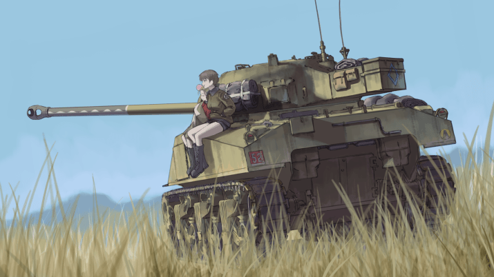 Drawing of an idle tank [2560*1440]