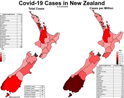 A map of the current situation regarding Coronavirus ...
