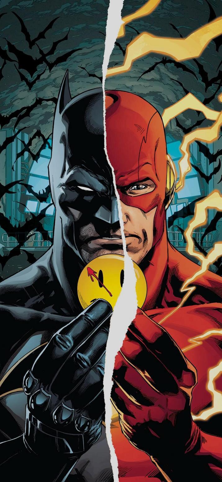 "Batman/The Flash wallpaper ""The Button"" [1662×3600]"