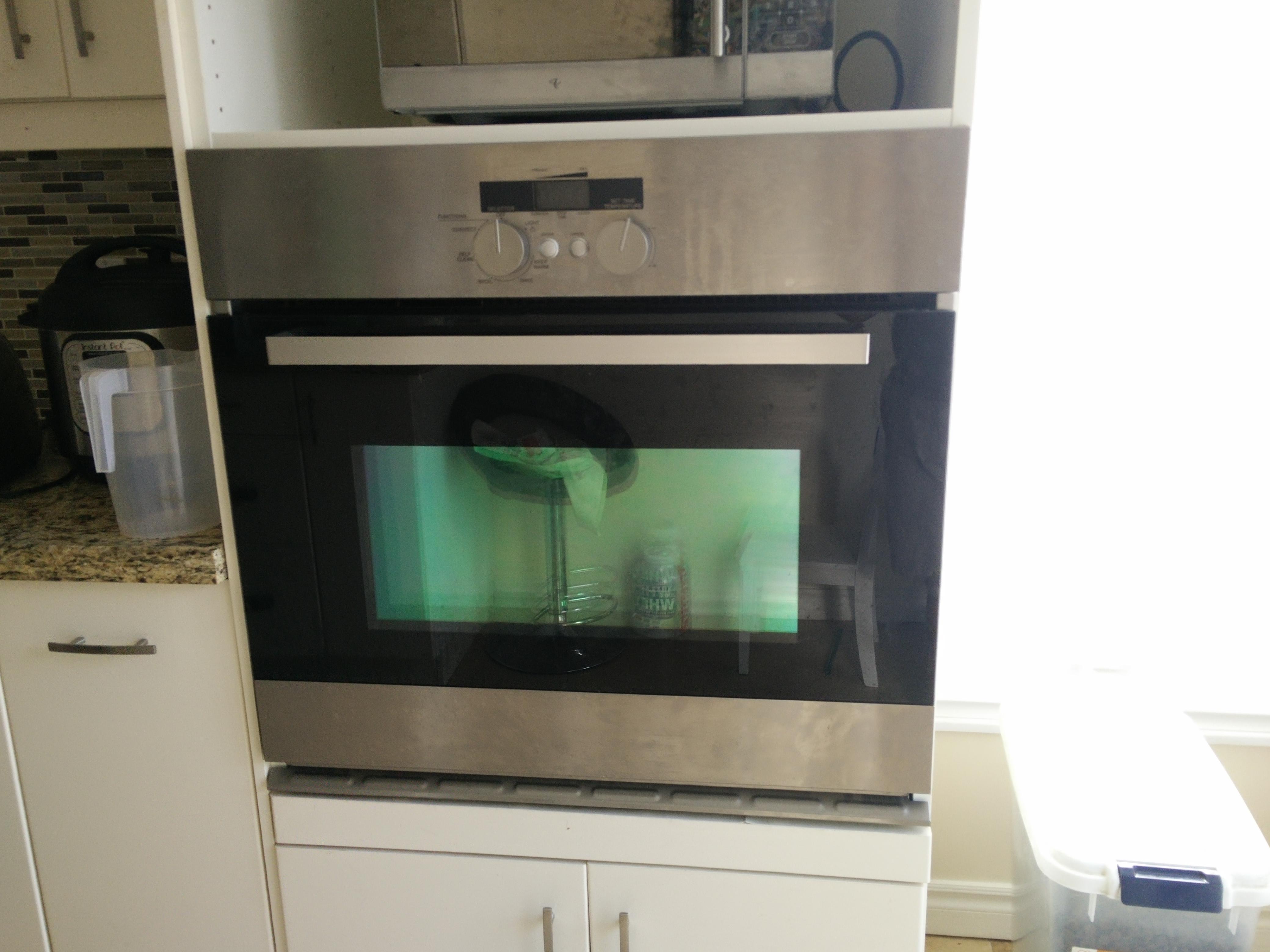 oven door locked with no power after