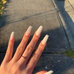 Soft White And Marble Nails Nails