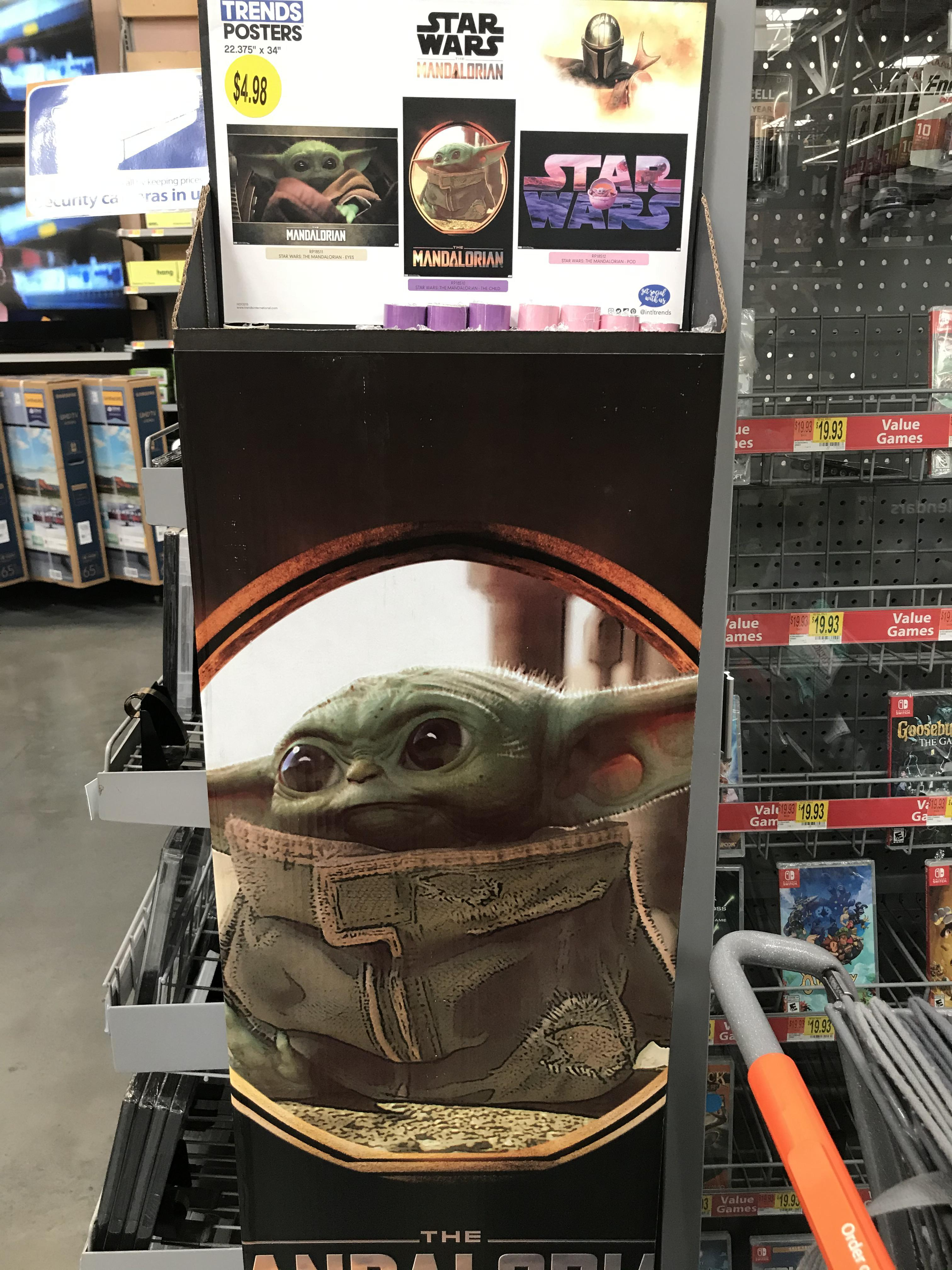 walmart has baby yoda posters this is
