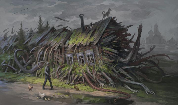 Creeping House by Denis Zhbankov [2430 x 1433]