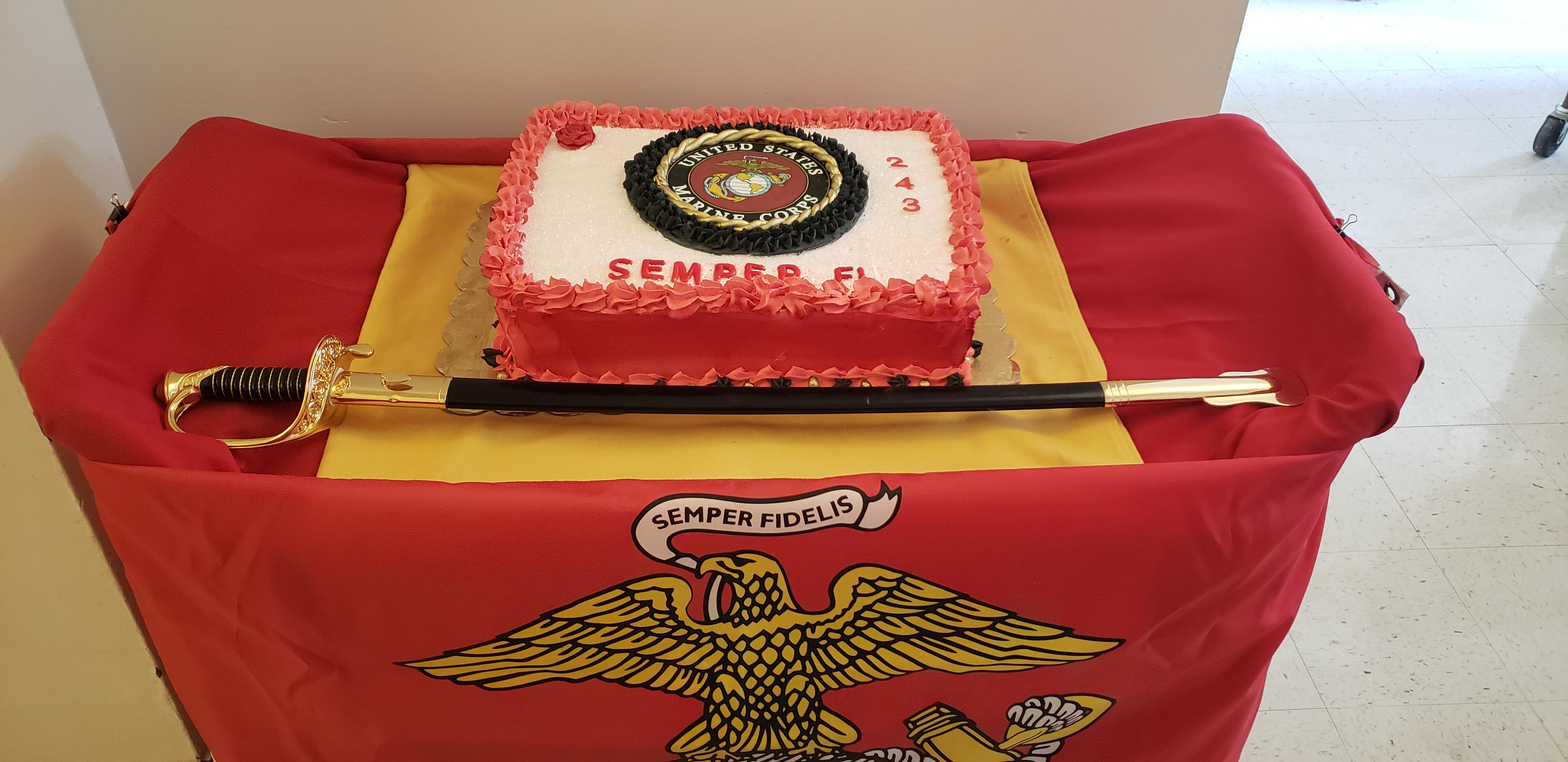 Cake My Mother Made For Our Marine Corps Birthday Ceremony At The Va I Work At She Is A Marine Wife And Mother Usmc
