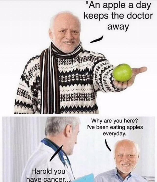 Hide The Pain Harold Meme Awesomebyte