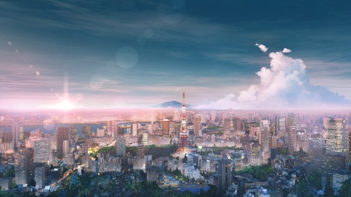 Spring Tokyo Skyline [3840×2160]