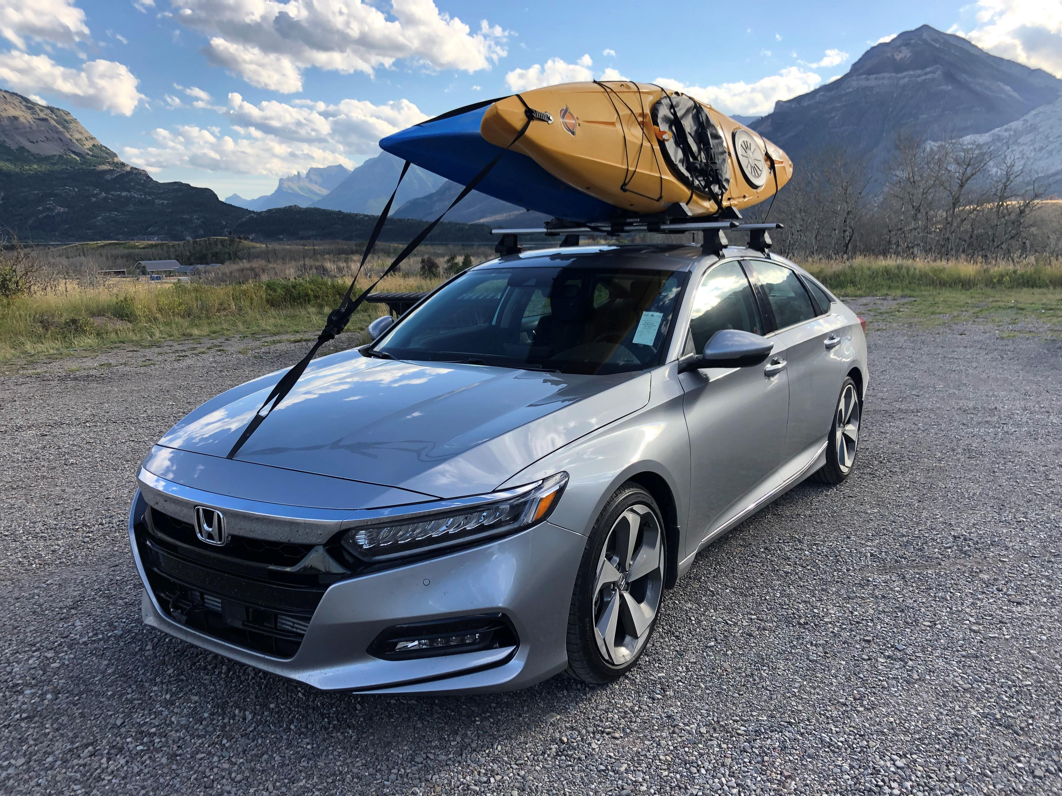This will require no drilling or permanent modification either. Honda Accord Kayak Rack Off 67