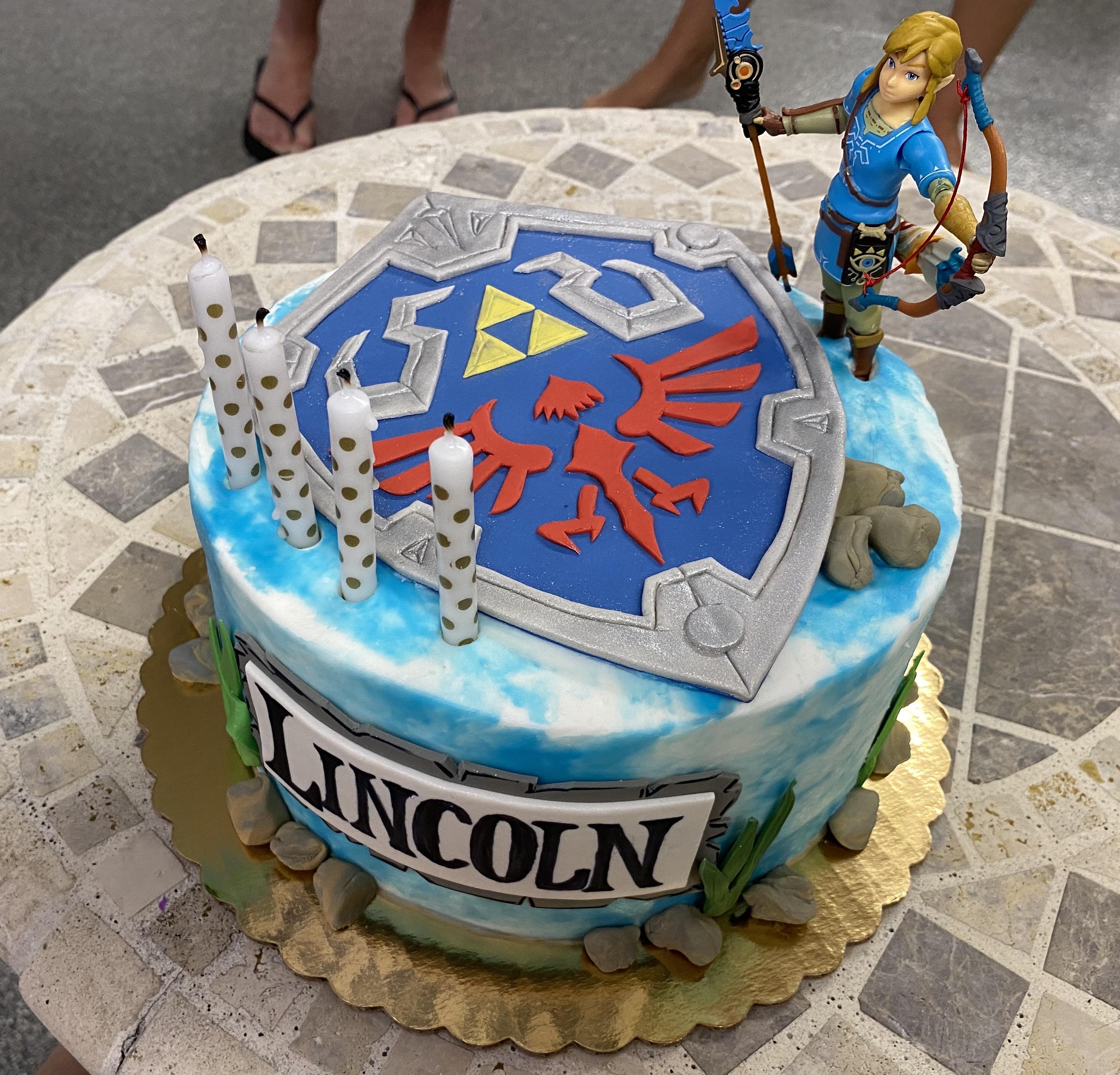 Botw Zelda Birthday Cake For My Son Lincoln Or As I Call Him Link Zelda