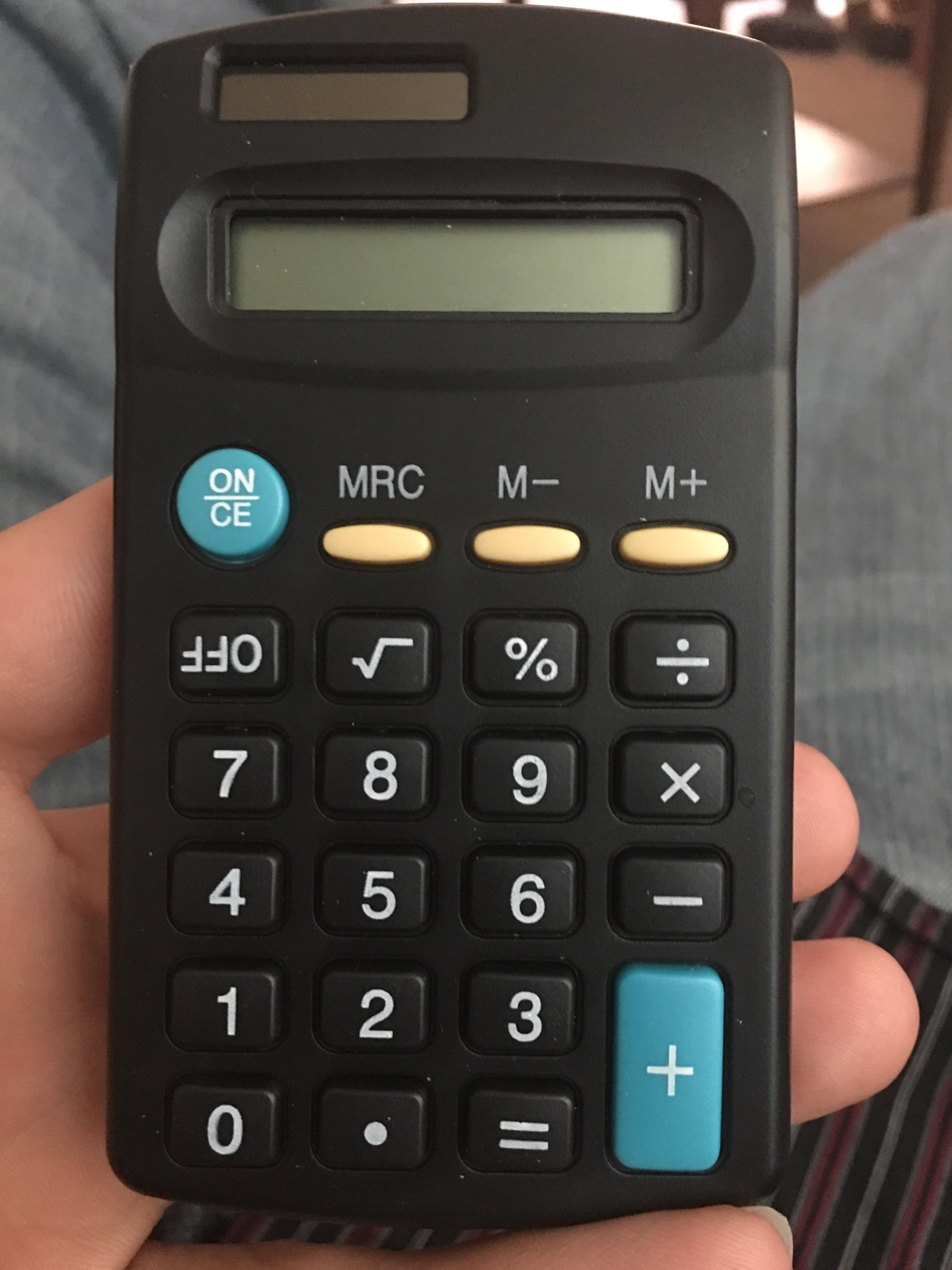 The Off Button On My Calculator Is Upside Down
