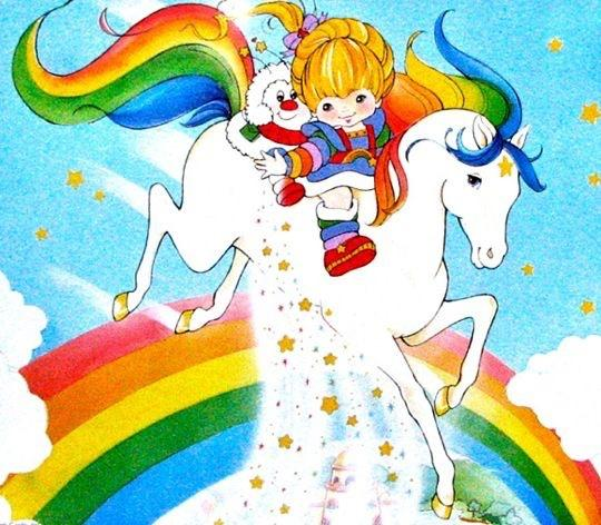 Starlite-Rainbow Brite , a little wish in the moonlight, sunbeams sparkle and shine, you'll always be a friend of mine! : 80sdesign