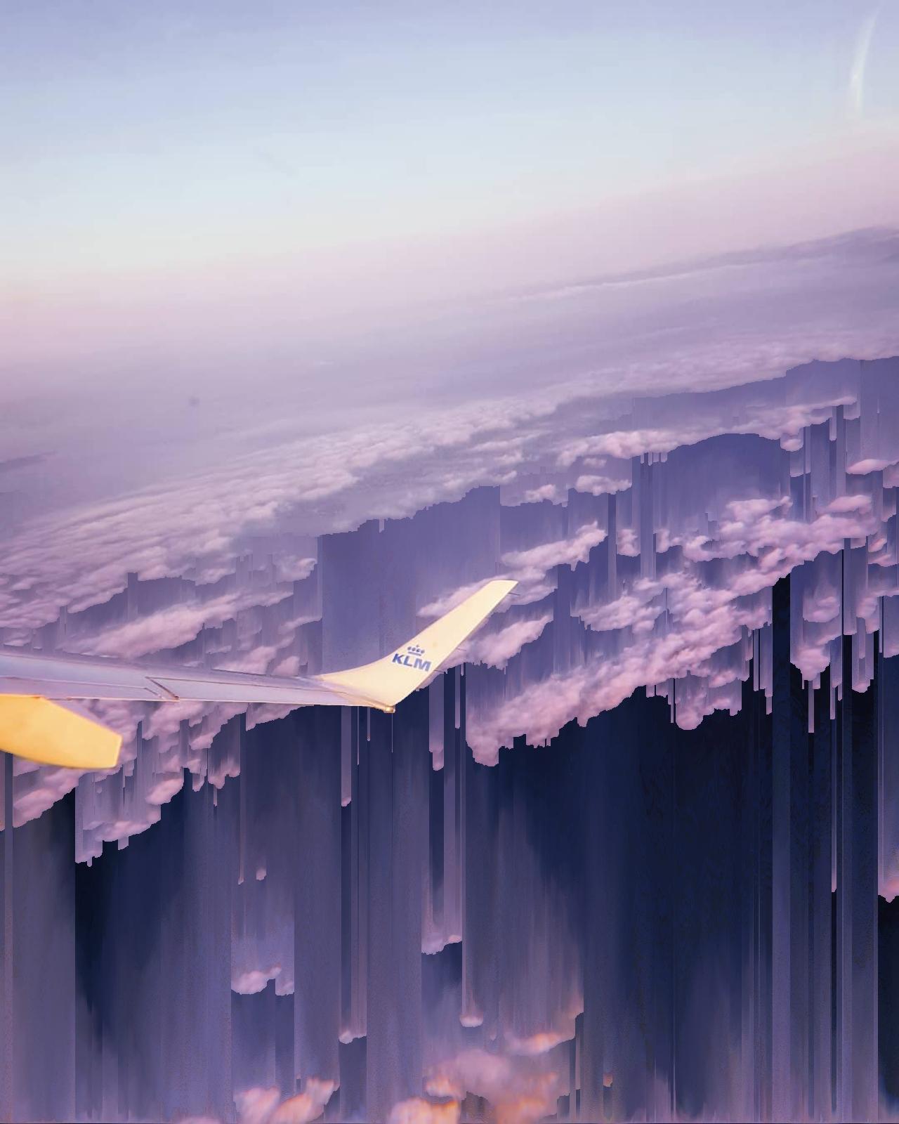 The Sky Is Falling Glitch Art