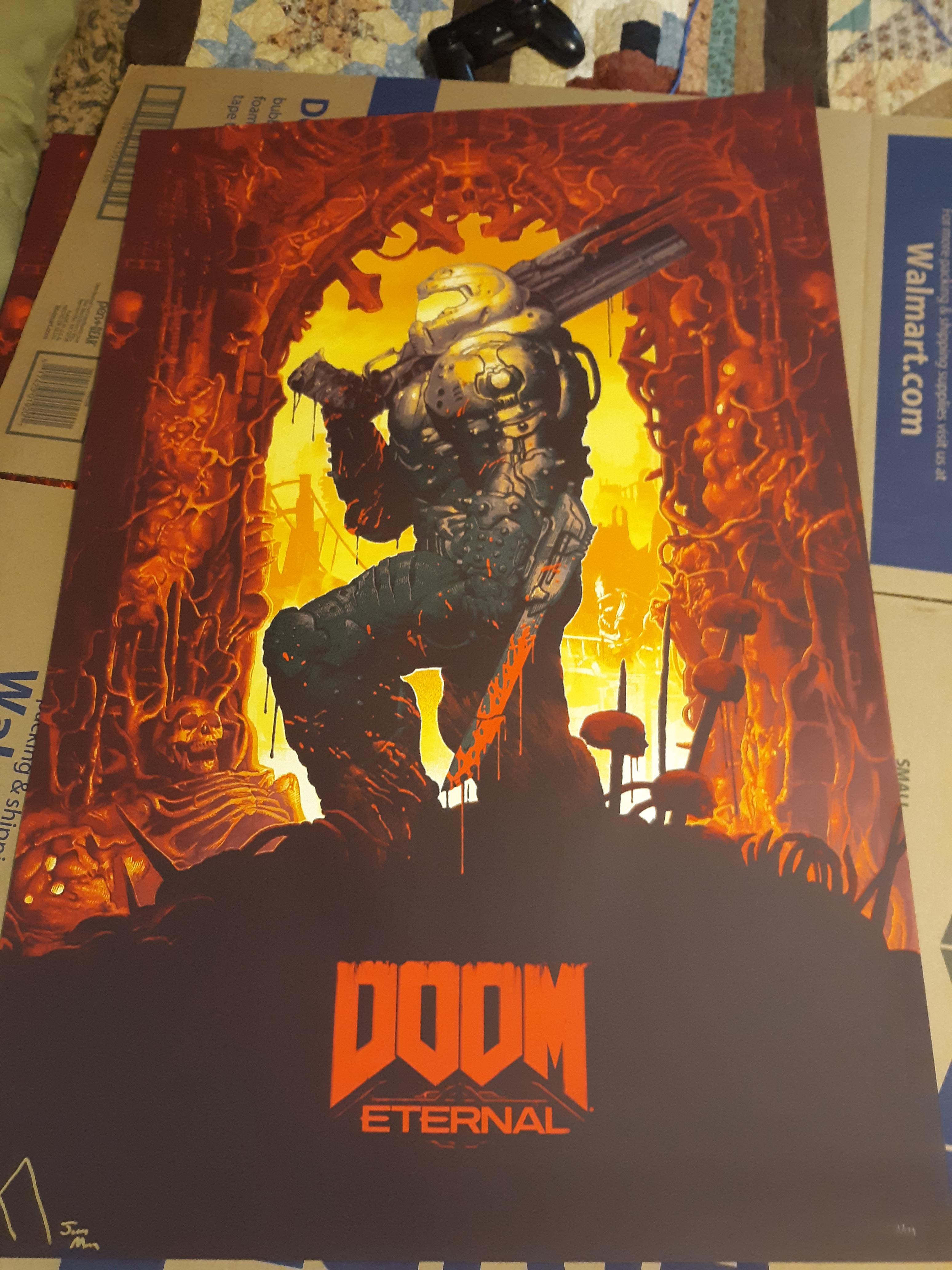 a new doom eternal poster doom