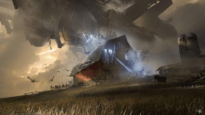 [1920×1080] spaceship blasting the barn