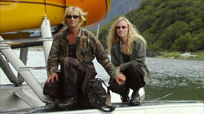 "Last known photograph of Timothy Treadwell, the ""Grizzly Man"", and his  girlfriend before they were mauled to death by bears in Alaska : lastimages"