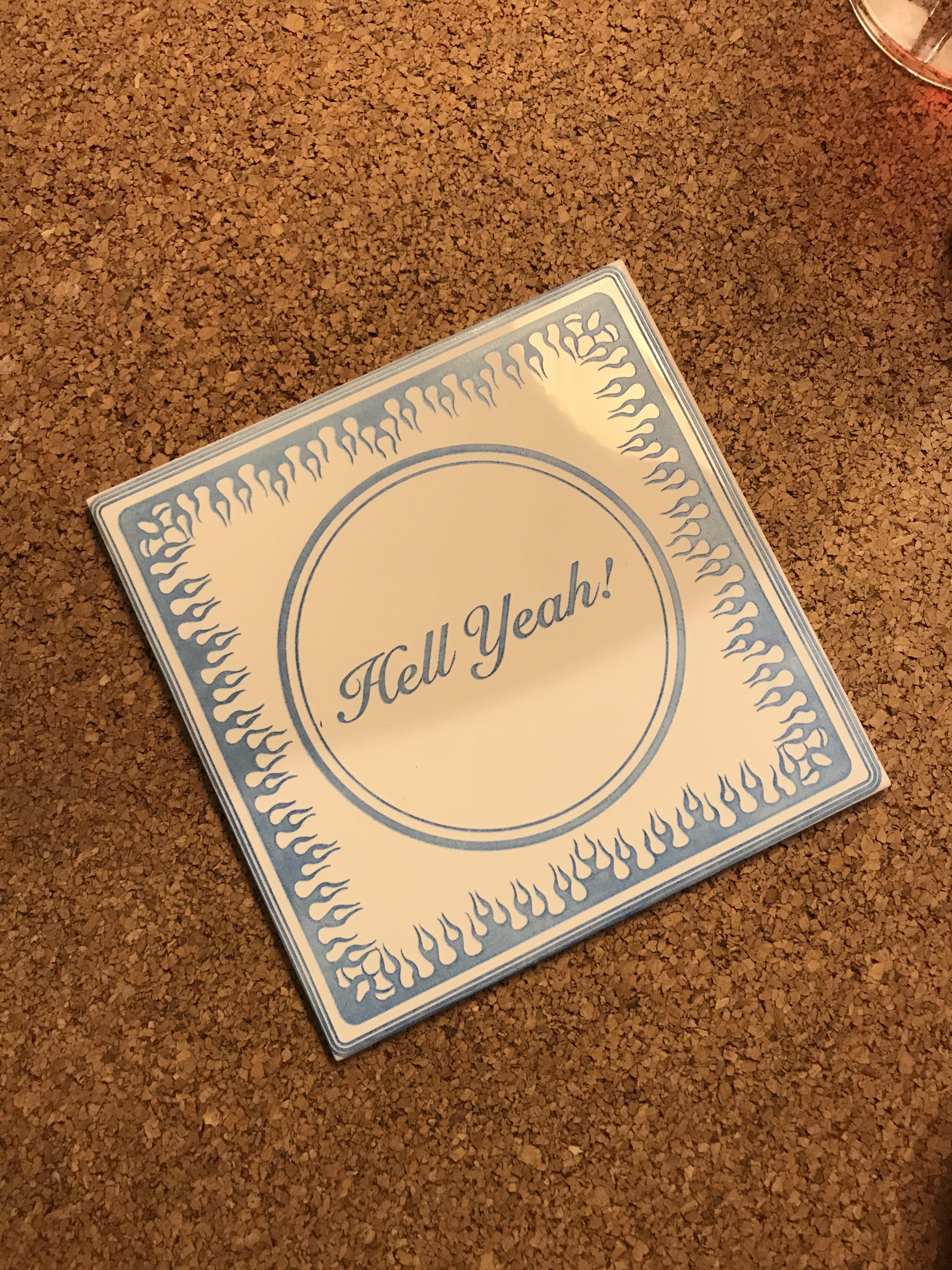 laser engraved ordinary white tile