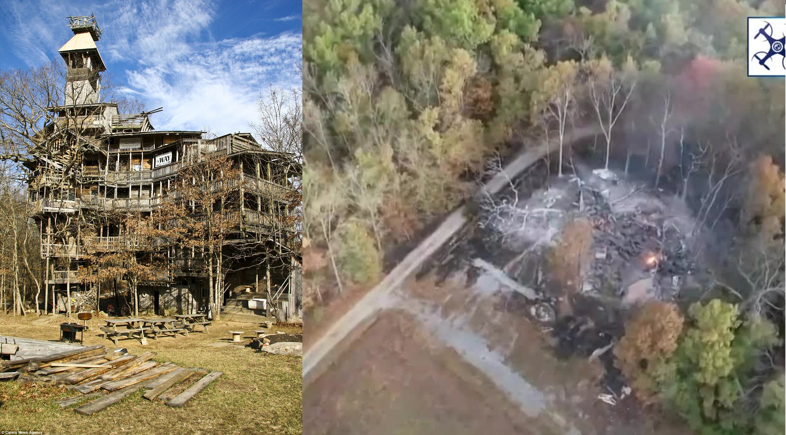 The World S Largest Tree House Which Has Been Abandoned Since 2012 Has Burned Down Abandonedporn