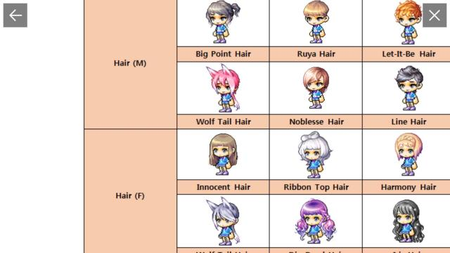 october royal hair and face : maplestorym