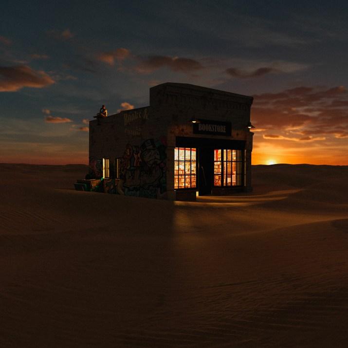 The desert and the bookstore. Muhcine Ennou [1880×1880]