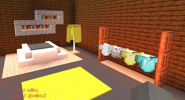 Made a Minecraft modern bedroom design, tutorial on my YT ...